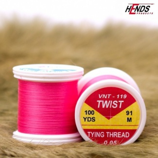 TWIST TYING THREAD RŮŽOVÁ 0,05mm VNT-119