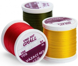 Vázací nit Grall Tying Thread 0,08mm/91m