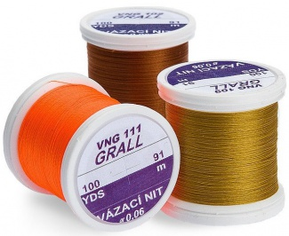 Vázací nit Grall Tying Thread 0,06mm/91m