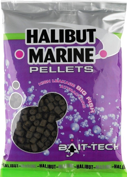 Pelety Bait-Tech Halibut Marine s dírkou 900g/8mm