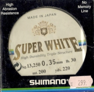 Vlasec Shimano Super White 200m/0,35mm/13,250kg