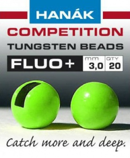 Tungsten Beads fluo+ zelený 2mm